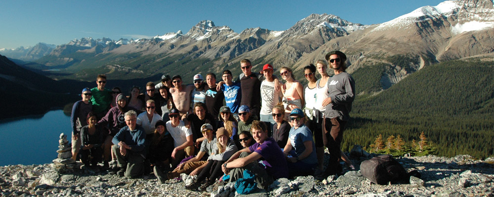 Geography Students on a field trip in the Rocky Mountains